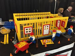 Lego display for Builders Association job fair at Mall of America
