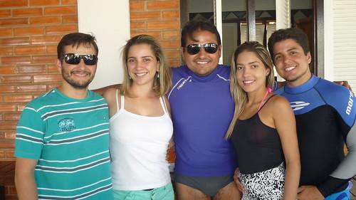 José Roberto e Katrice Branco, Rodrigo Branco com Renata Oliveira e Felipe Branco.