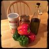 Tonight on #CucinaDelloZio - #homemade #StuffedPeppers - #peperoni #imbottiti - simple ingredients
