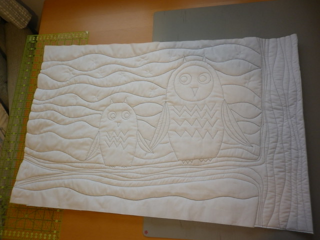 Owls are quilted - the back