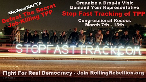 San Diego Rolling Rebellion Advocates for Net Neutrality and Takes on TPP & Fast Track