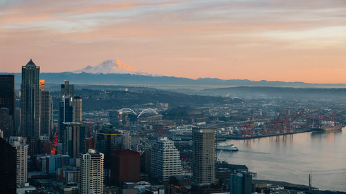 Mt. Rainier and the City