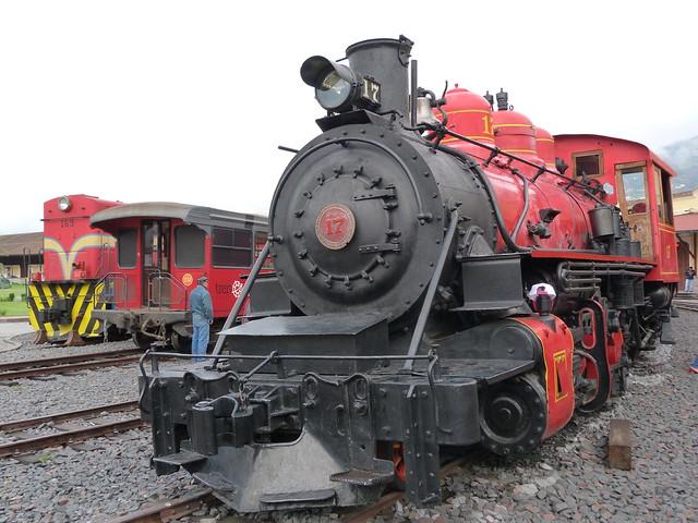 Locomotora de la Estación Chimbacalle de Quito (Ecuador)