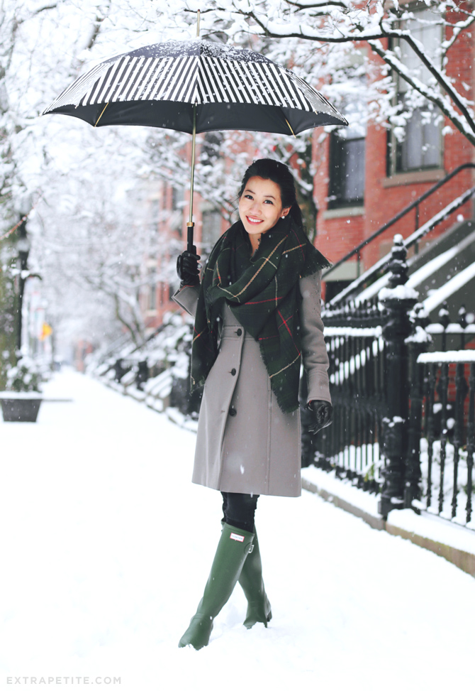 hunter green and taupe winter outfit