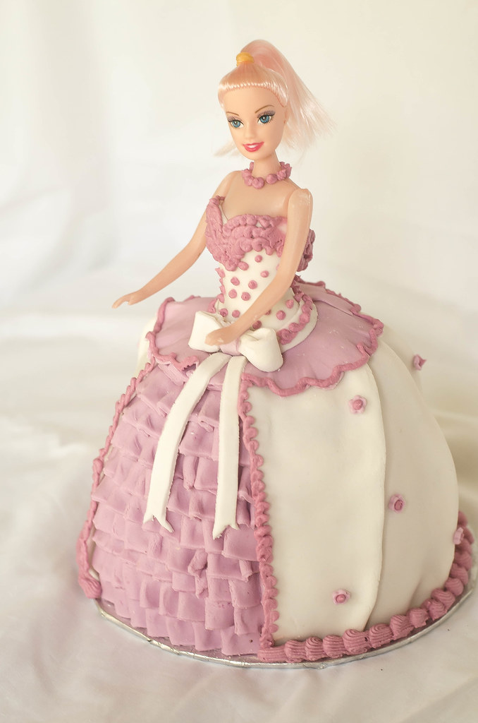 Barbie Doll Cake In Batter Bowl