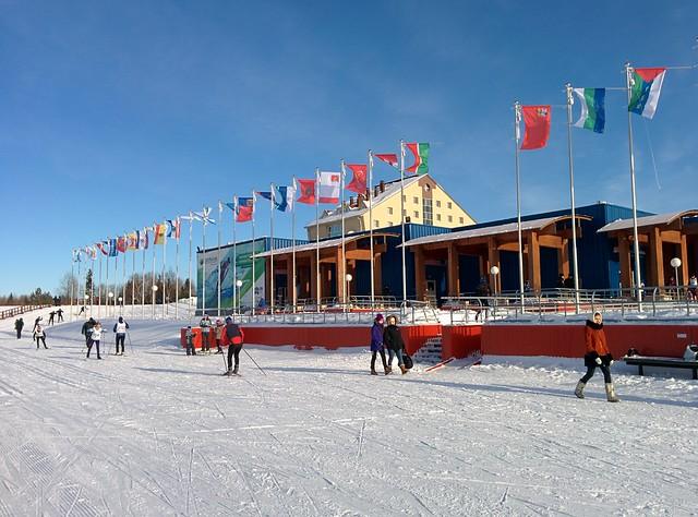 Лыжня России на стадионе Сметаниной в Выльгорте