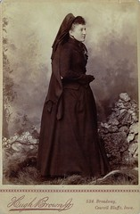 Mrs. Apple in Mourning, Albumen Carte de Visite, Circa 1888
