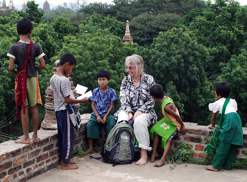 More children joined me atop a small temple in Bagan, Myanmar