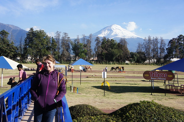 - Popocatepetl in the background