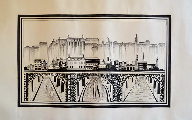 City on the bridge