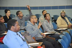 Grambling State University College of Business majors during an informational session about CSC business structure