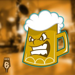 """Qwik! grab yourself a frothy one 🍺 in a """"Mean Mug"""" (logo/mascot is UP FOR GRABS!!) Hit me up if you're interested in purchasing this mascot/logo qwik06@gmail.com #logo #mascot #cartoon #character #illustration #tshirt #tshirtdesign #cartoonlogo #char"""