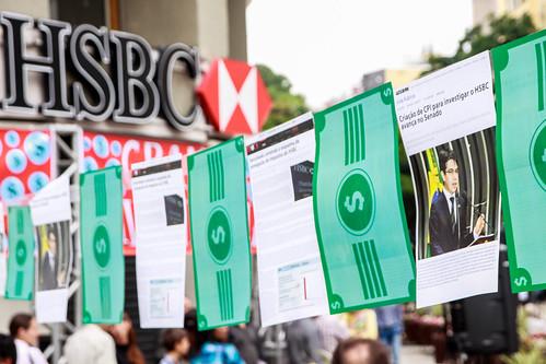 Ato HSBC: Grande lavanderia