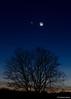 Moon, Mars, and Venus. February 20, 2015.