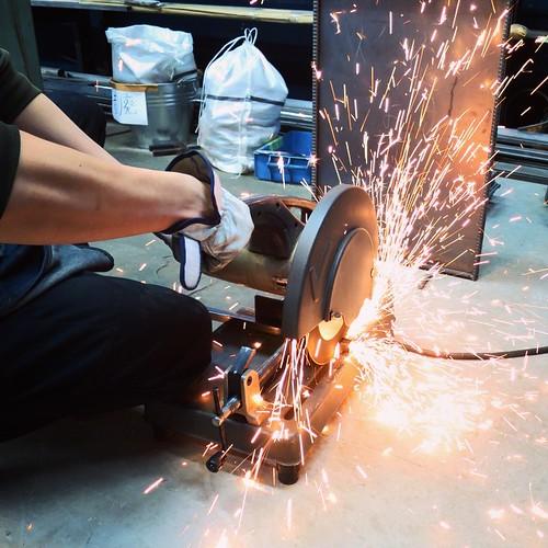 日曜日、二個目のトレーニングは鉄工!