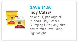 picture relating to Tidy Cat Printable 3.00 Coupon referred to as $1.50/1 Tidy Cats Printable Coupon (0.30/lb at Meijer this 7 days