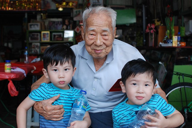 My 100 year old Grandpa with Jerry & Jerome.