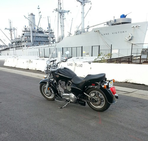 My 2003 Victory V92C and the USS Lane Victory