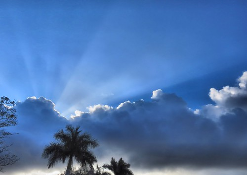 Sunburst and rainclouds HDR 20150301