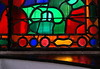 Stained glass window and refleczion