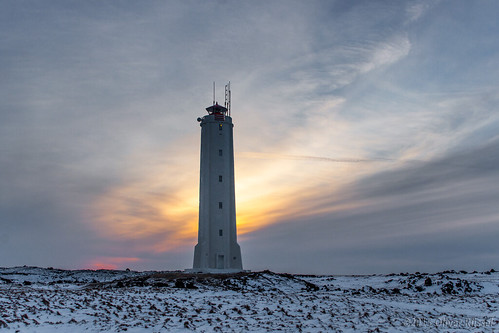 winter sunset lighthouse snow iceland oru 2015 snaefellsnes malarrif