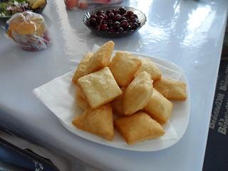 Traditional Baursak at Sky Hostel