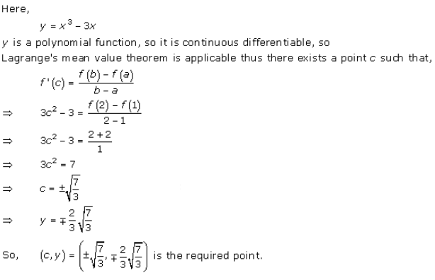 Free Online RD Sharma Class 12 Solutions Chapter 15 Mean Value Theorems Ex 15.2 Q8