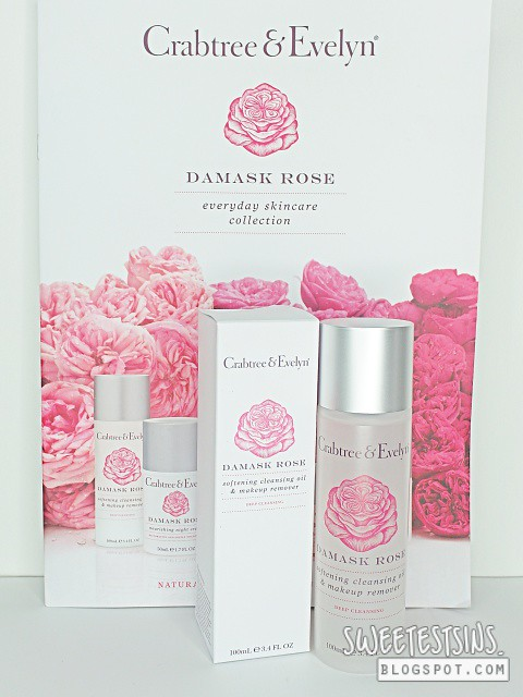 crabtree & evelyn damask rose softening cleansing oil & makeup remover