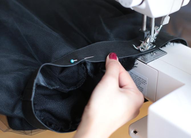 tulle skirt elastic waist DIY2