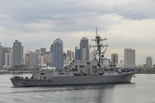 USS William P. Lawrence Transits San Diego