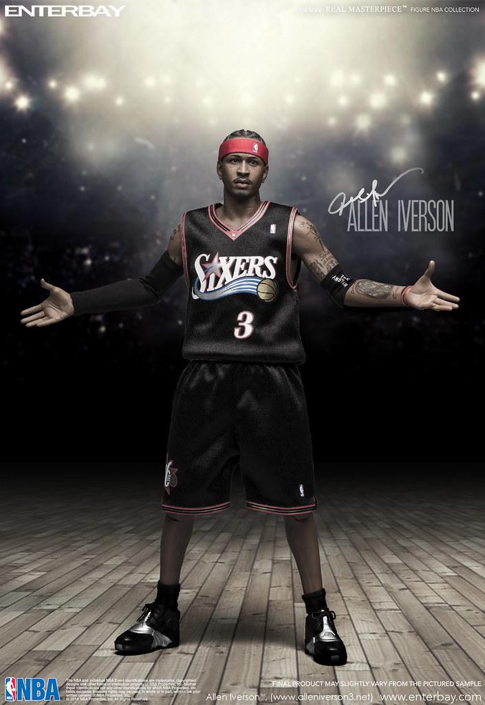 ENTERBAY【艾倫·艾佛森】Allen Iverson 1/6 比例 REAL MASTERPIECE NBA 系列