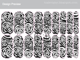 Zentangle® Inspired Art Nail Wraps : Diva Dance