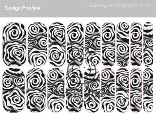 Zentangle® Inspired Art Nail Wraps : Diva Dance