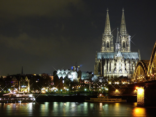 germany cologne rhine colognecathedral hohenzollernbridge