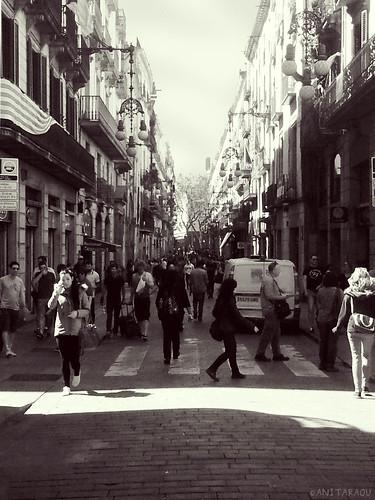 Barcelona street, Barcelona crowd