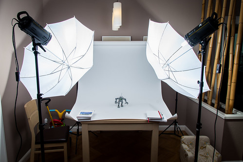 Setup with paper backdrop background