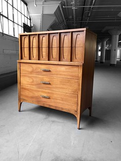 ***ON DECK*** Kent Coffey Townhouse Midcentury Modern Tall Dresser Chest of Drawers (U.S.A., 1960s)