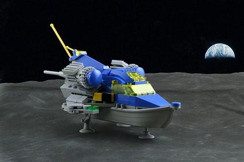 Pilot ship Dolphin on the moon