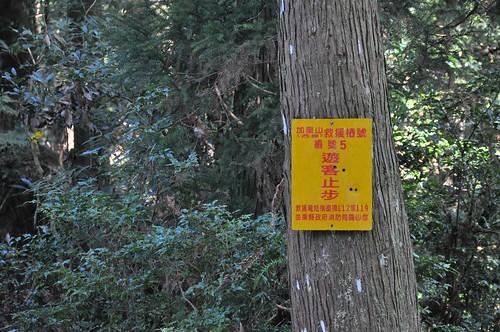 加里山步道-加里山救援樁-5號