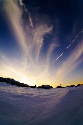日本 冬 風景 夕焼け 日光 栃木県 日光市 nex5r