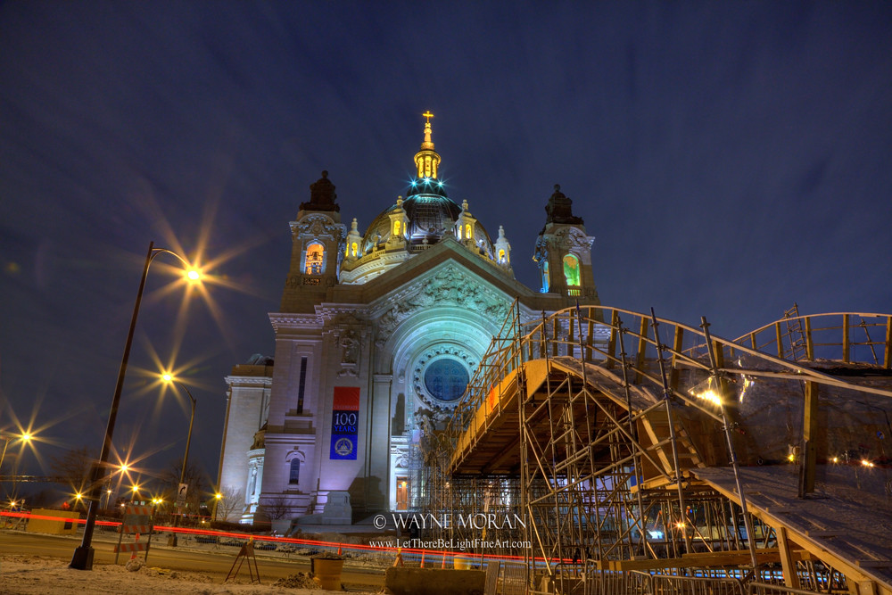 Cathedral of St Paul Getting Ready for Red Bull Crashed Ice 2015