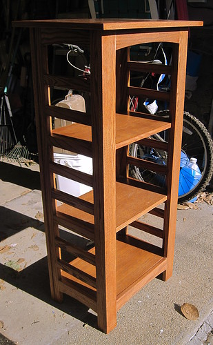 Cookbook Shelf Unit II: Finished