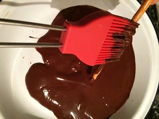 Handmade chocolate covered pretzels