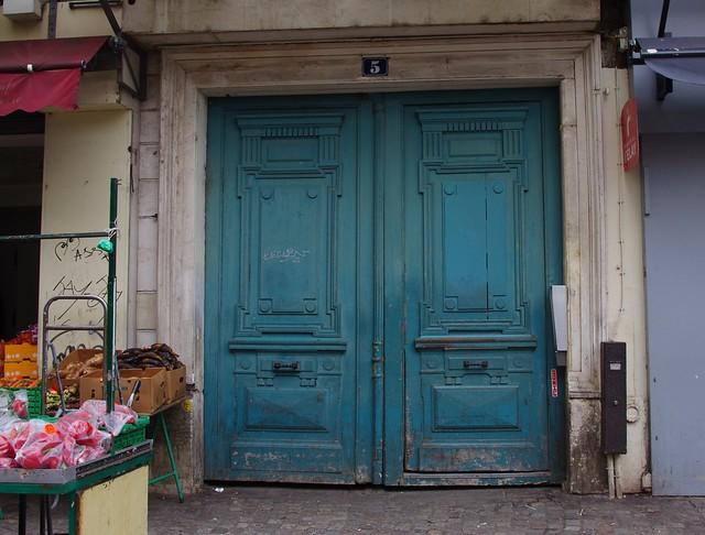 Battered Blue Doors