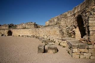 Arena del Anfiteatro de Segobriga