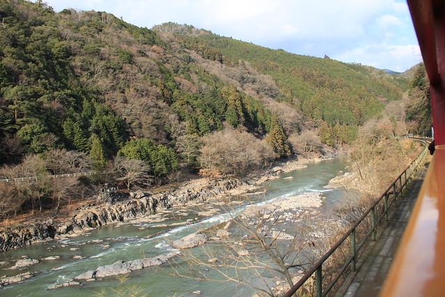 嵐山 - 小火車風景