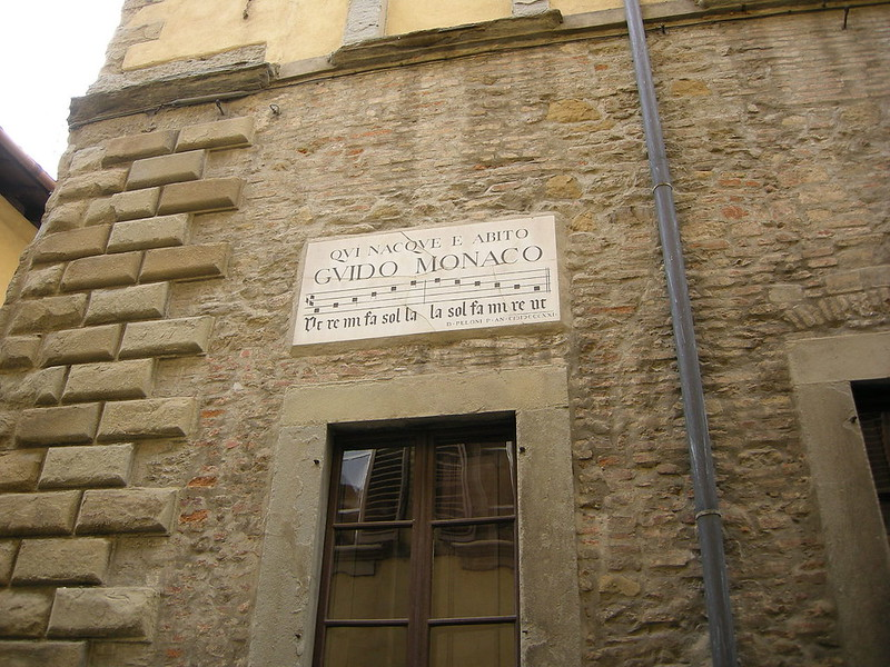 Guido of Arezzo's house with plaque