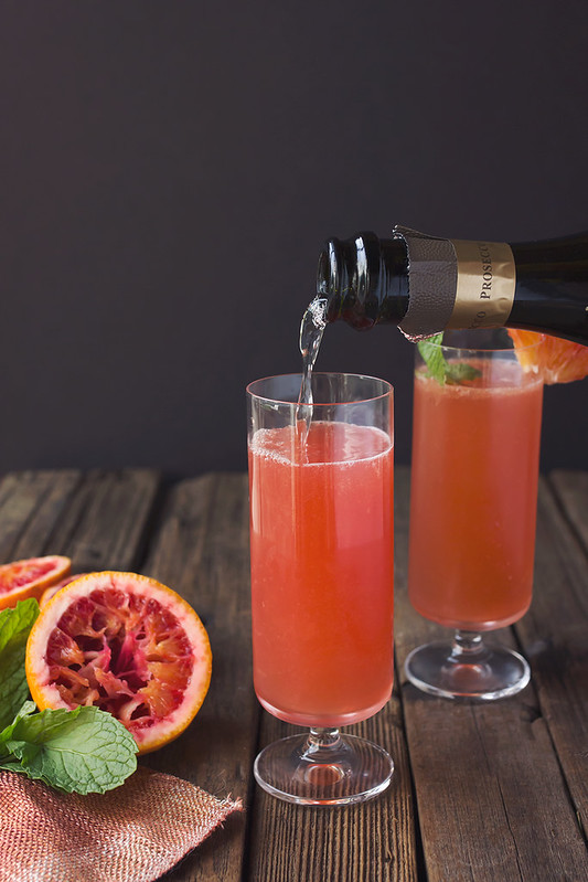 Blood Orange Bourbon Sparkler