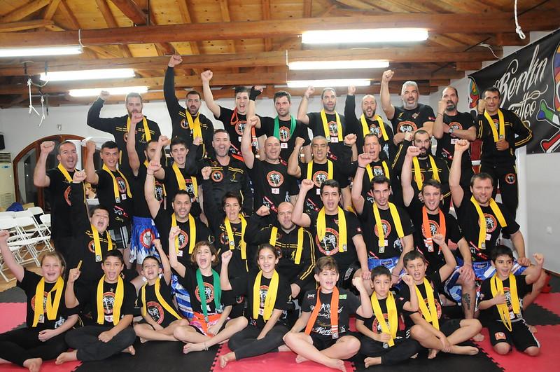 Eξετάσεις έγχρωμων ζωνών στο Fight Club Spetses