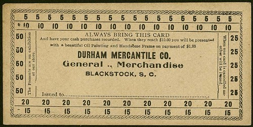 Blackstock Durham Mercantile Card
